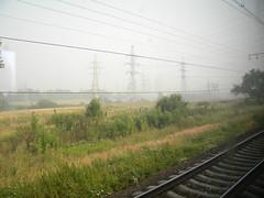 Smog near Moscow (Timon91) Tags: train smog russia moscow euronight trainamsterdammoscow