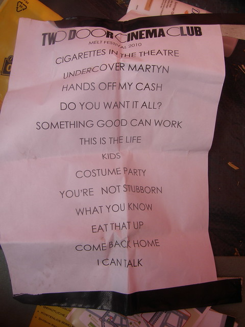 Two Door Cinema Club setlist