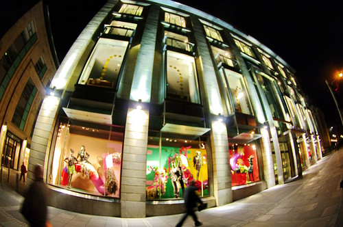 Edinburgh, Edimbourg, Harvey Nichols at night