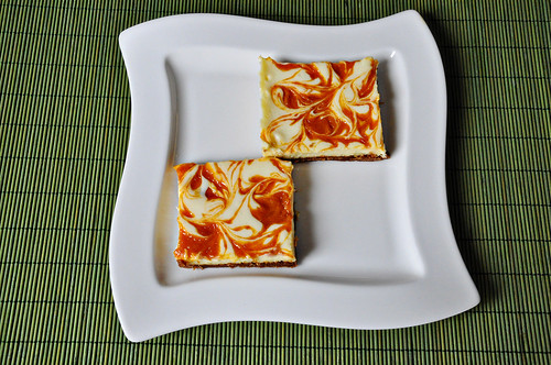 Apricot Swirled Cheesecake Bars - Cook Like A ChampionCook Like A ...
