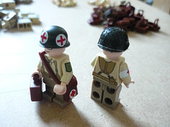 1st Div Medics 2 (Milan CMadge) Tags: world two usmc infantry work army us war lego legs 1st wwii progress wip ww2 division custom satchel decals raiders torsos brasso carlsons medics brickarms