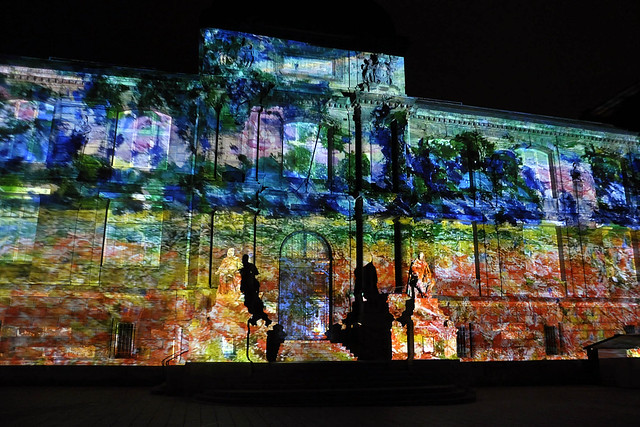 Projection image sur facade