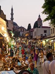 Old Town, Rhodes (1) (Gauss2) Tags: street minaret hellas olympus mosque greece oldtown rodos rhodes e520