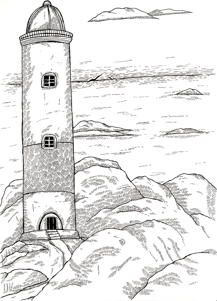next tote bag print - the lighthouse