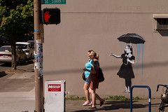 BANKSY GRAFFITI IN PORTLAND? (Squid Vicious) Tags: oregon portland banksy mre umbrellagirl mystere 12thsestark