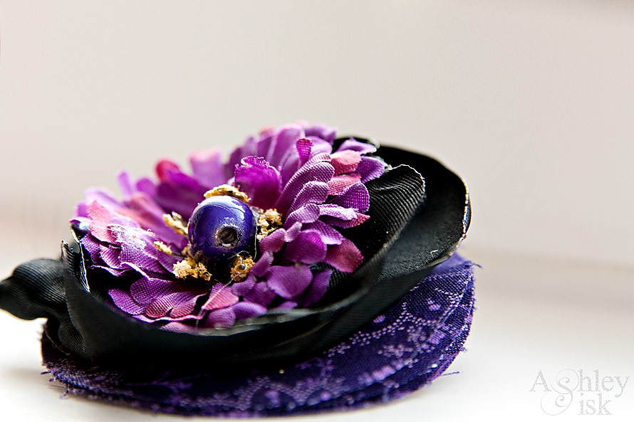 Purple Hair Clip Macro RS