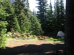 Camp Mystery on Marmot Pass trail.
