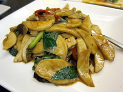 Facing East: Stir Fried King Oyster Mushrooms