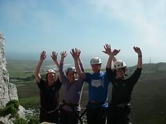 Climbing Holyhead Mountain