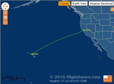 Flight from sfo to hawaii time
