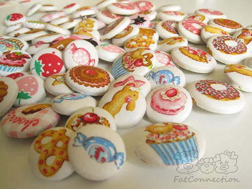 fabric covered button