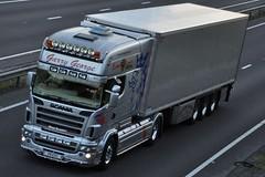 Garry George Scania R580 'Longline' V  8 EXC (truck_photos) Tags: