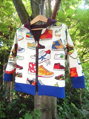 sneaker hoodie print side