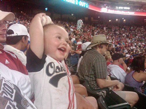 TJ's First Foul Ball