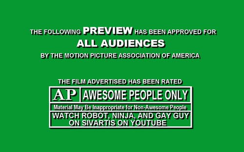 Robot, Ninja & Gay Guy MPAA Title Card