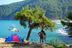 show you my paradise (eleannab) Tags: blue camping summer beach water island greek paradise places greece nudist thassos paradeisos