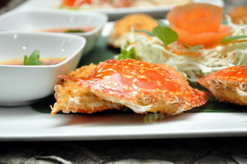 Deep fried stuffed crab