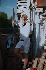 The Sailor II (Alexander Kuzmin Photography) Tags: sea portrait fashion scarf french boat marine couple ship outdoor availablelight ambientlight