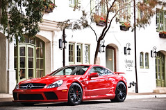Mercedes Benz SL65 Black Series (GHG Photography) Tags: california red mercedes monterey fast olympus exotic german mercedesbenz carmel pebblebeach expensive concours rare coupe supercar concourse sportscar amg sl65 carmelvalley slclass blackseries hypercar e520 ghgphotography