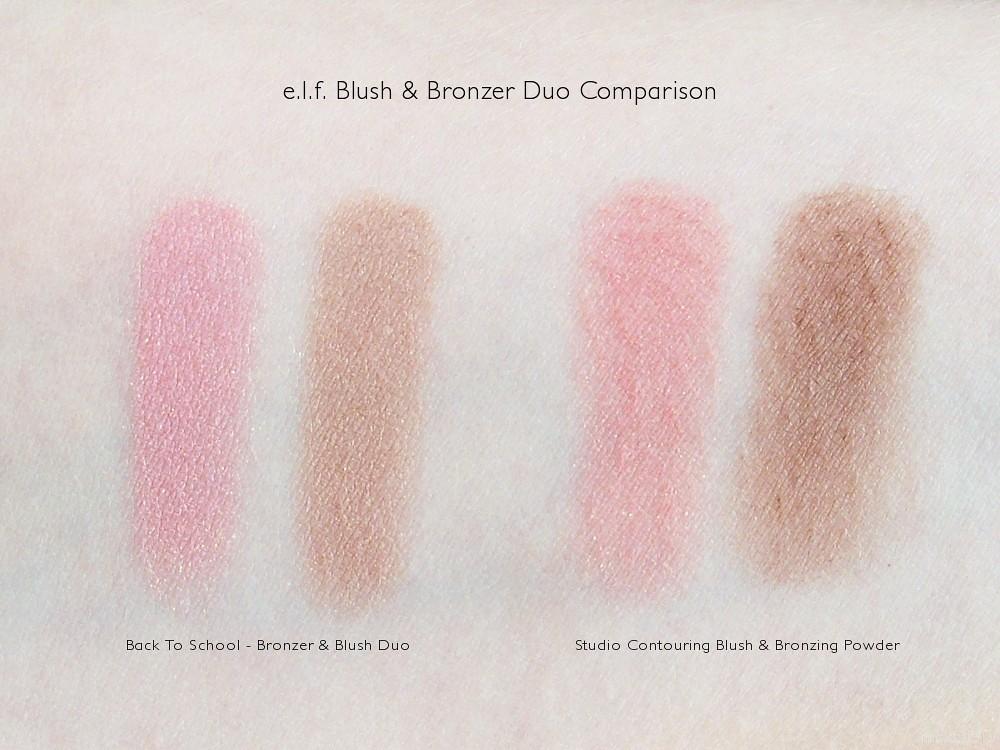 e.l.f. Blush & Bronzer Duo Comparison Swatches
