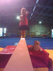 Sara on the beam (GeoWombats) Tags: sara august beam gymnastics 2010