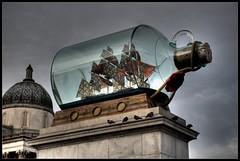 All set to change. (Romany WG) Tags: sculpture london public bottle ship trafalgarsquare nelsons forth massive plinth 2010 shonibare yinka in