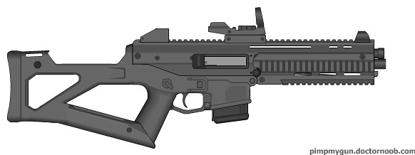 Bushmaster ACR w/grenade launcher. What I like about the ACR is ...