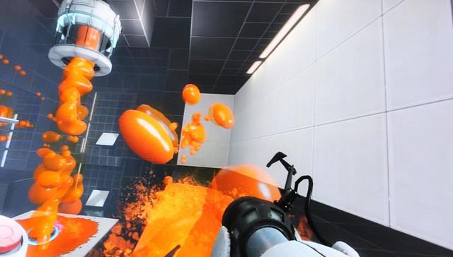 Screenshots Portal 2 fluido naranja