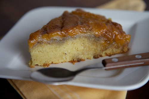 Eggless Peach And Cardamom Upside Down Cake