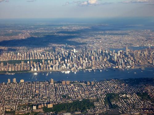 Vue aérienne de New York
