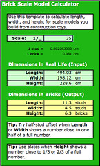Brick (LEGO) Scale Model Calculator