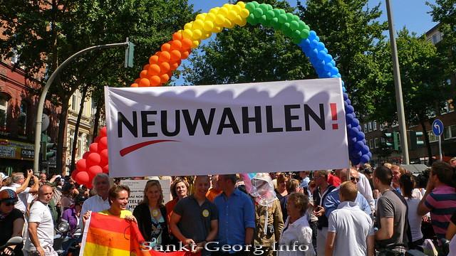 'Neuwahlen!' beim CSD 2010 in Hamburg St. Georg