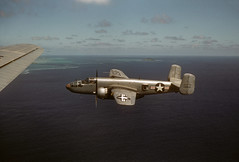 B-25 - Jul 54 (Phil Roeder) Tags: color zeiss asia explore 1950s kodachrome ikon koreanwar b25 contessa explored scancafe