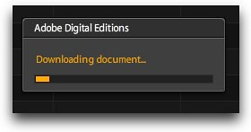 Adobe Digital Editions - progress
