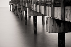 We made it all the way back...that's a good sign (Jaime973) Tags: ocean longexposure beach night canon 50mm pier raw florida staugustine boototherain ionlytook1pictureofafencelol thispicturewasntfromourminivaca