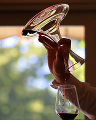 sommelier (jenny downing) Tags: light distortion blur france glass lines drops blurry wine crystal bokeh curves blurred refraction drips wineglass redwine delicate dribble decanter glassware duvin insidelookingout infrance sommelier decant leadcrystal tastethewine jennypics masterofwine takeninfrance jennydowning winewaiter itsallinthewristaction goterlevin gettyimagesfranceq1 photobyjennydowning