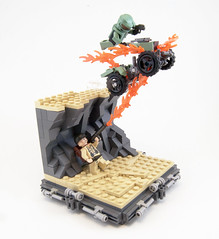 Deadliest Warrior: Spartan vs. WWII Soldier (Titolian) Tags: soldier lego wwii contest warrior spartan mongoose splosion deadliest brickfair