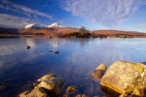 Morning Light at Lochan na h-Achlaise ~ Rannoch Moor, Scotland