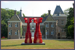The Invisible Man (Peter Jansen) (Bert Kaufmann) Tags: sculpture holland castle art netherlands garden construction artist kunst nederland sculptuur exposition artists tuin schloss paysbas olanda overijssel kunstenaar beel