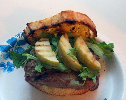 Turkey Burger with Brie and Grilled Apples Megan's Cookin