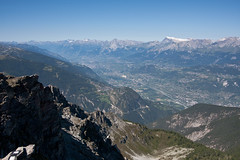 View from the Illhorn on Vercorin and Rhone valley Photo