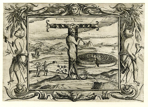 018-Letra T-Grotesque alphabet in mythological landscapes-© The Trustees of the British Museum