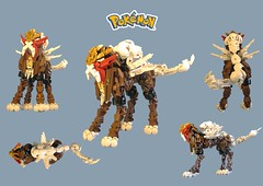 A wild ENTEI appeared! (retinence) Tags: lego pokemon fusion bionicle entei