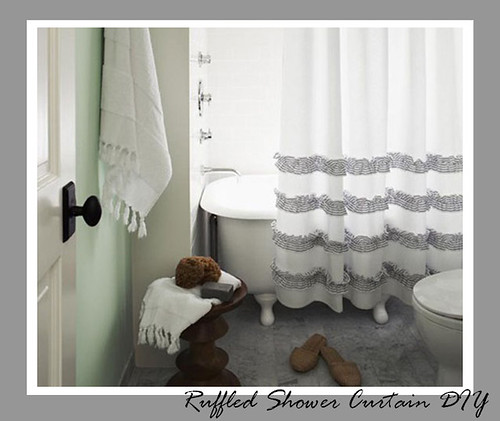 Ruffled Shower Curtain 1