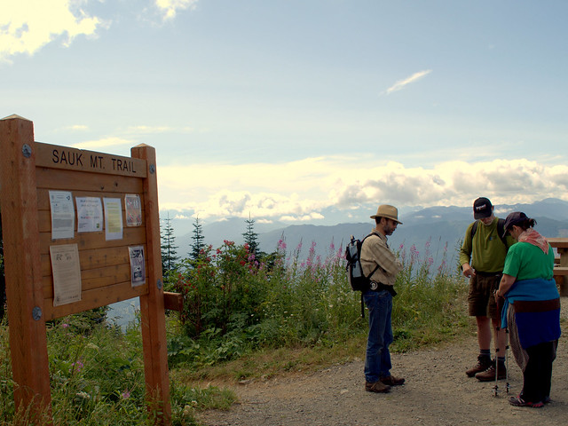 Jim, Don, & Cherie at Sauk Mt. Trailhead