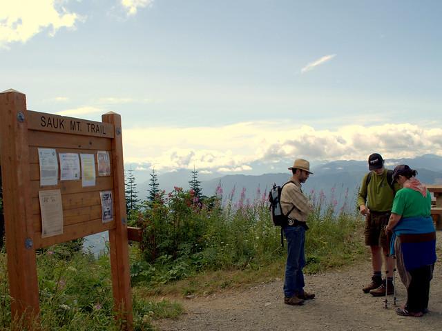 Jim, Don, & Cherie at Sauk Mt. Trailhead