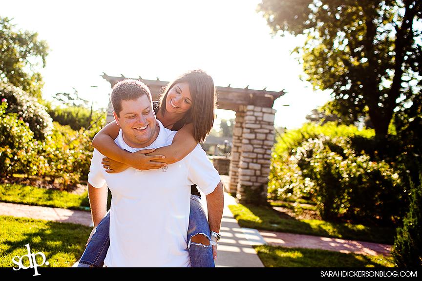 Loose Park, Kansas City Missouri engagement images