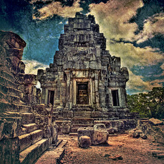 Textured Angkor Wat Architecture