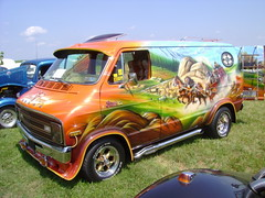 1976 Dodge Street Van (splattergraphics) Tags: car mural dodge van carshow 1976 airbrush custompaint aerography customvan streetvan hanoverpa chickenshow stdavidslutheranchurch