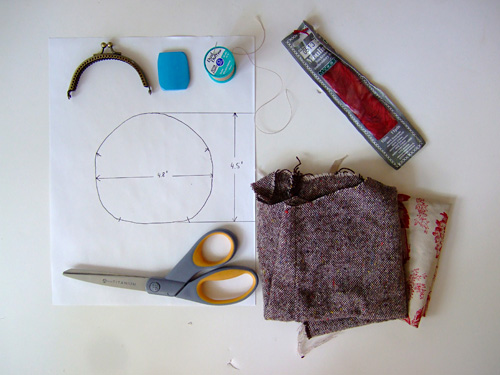 Coin Purse Tutorial Supplies